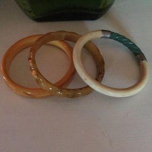 Gorgeous Bakelite bracelets set of 3